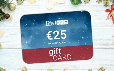 Announcing LifeBiotic's €25 holidays Gift Card